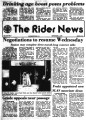 Rider news / published by the students of Rider College, 09/1979 issues.